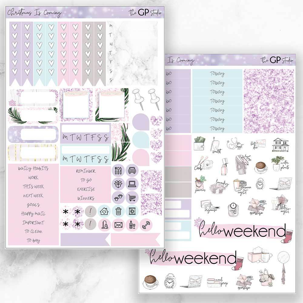 CHRISTMAS IS COMING Functional Planner Sticker Kit-The GP Studio