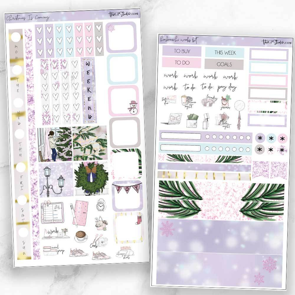 CHRISTMAS IS COMING Hobonichi Weekly Size Planner Sticker Kit-The GP Studio