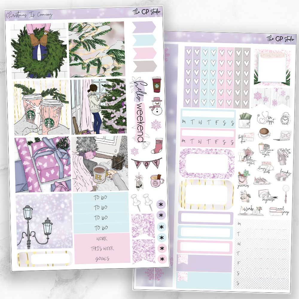 CHRISTMAS IS COMING Mini Size Planner Sticker Kit-The GP Studio