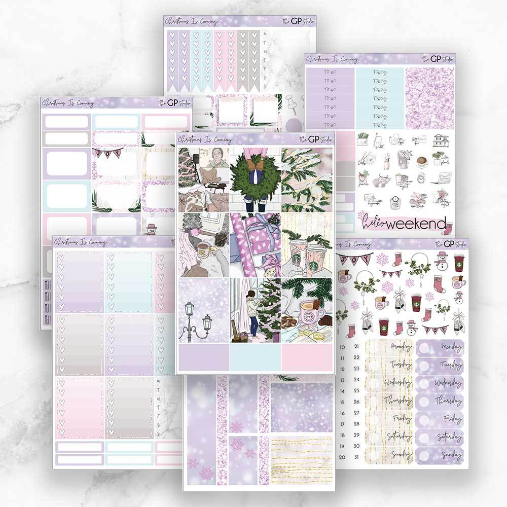 CHRISTMAS IS COMING Planner Sticker Kit-The GP Studio