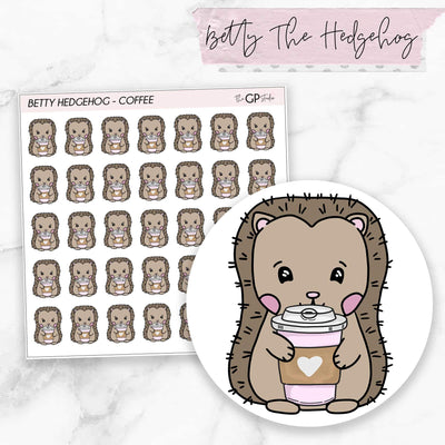 COFFEE BETTY Planner Stickers-The GP Studio