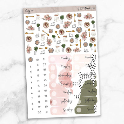 COFFEE FIRST Deco & Date Cover Stickers-The GP Studio