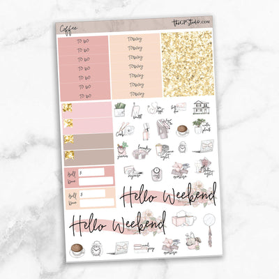 COFFEE FIRST Functional Planner Sticker Kit-The GP Studio