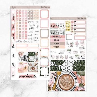 COFFEE FIRST Hobonichi Weekly Size Planner Sticker Kit-The GP Studio