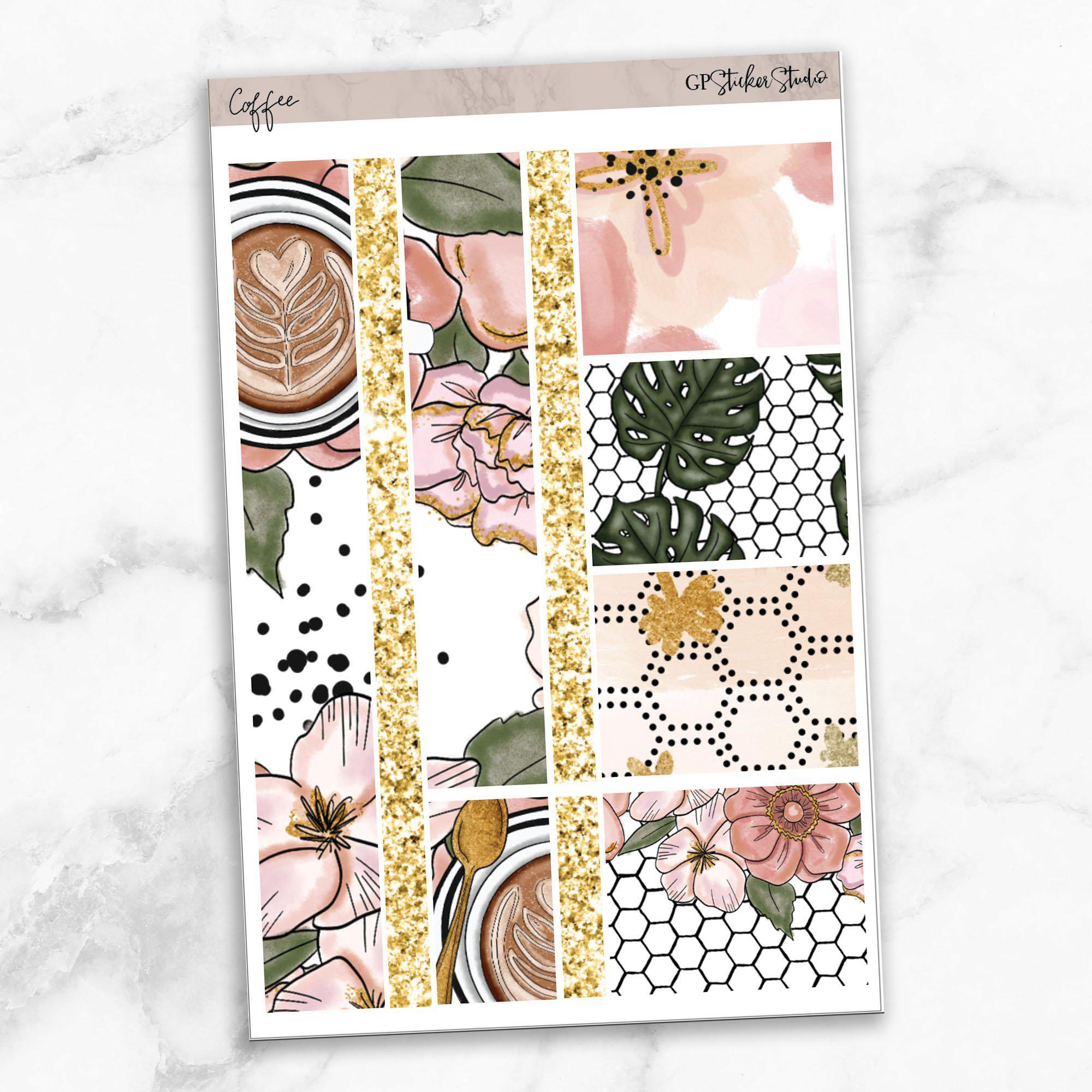 COFFEE FIRST Washi Sheet Stickers-The GP Studio