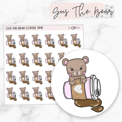 COFFEE GUS Planner Stickers-The GP Studio