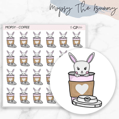 COFFEE MOPSY Planner Stickers-The GP Studio