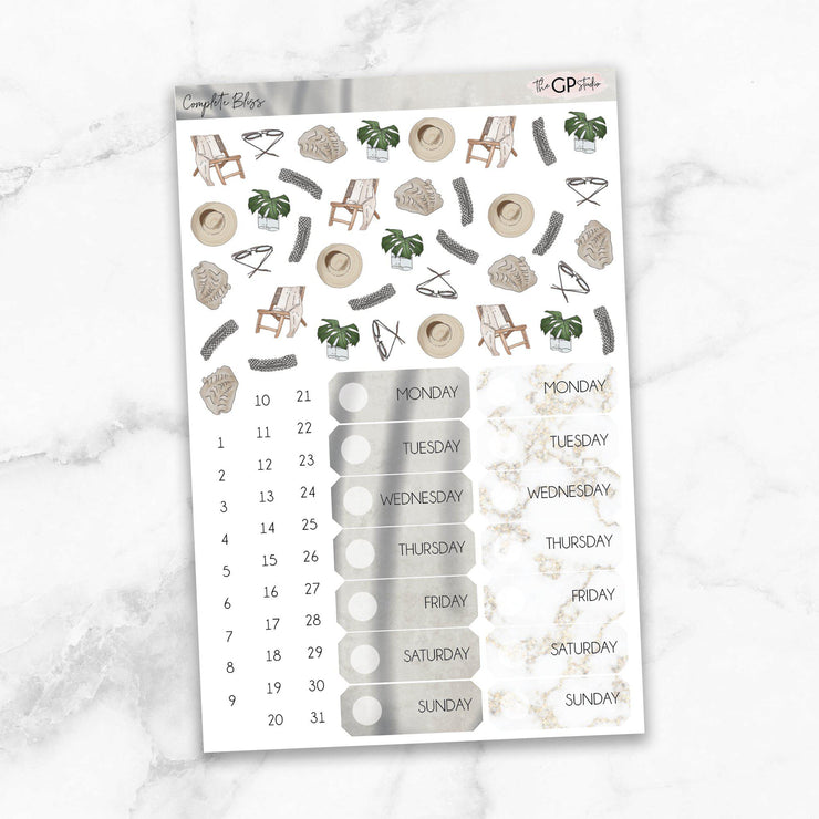 COMPLETE BLISS Deco & Date Cover Stickers-The GP Studio