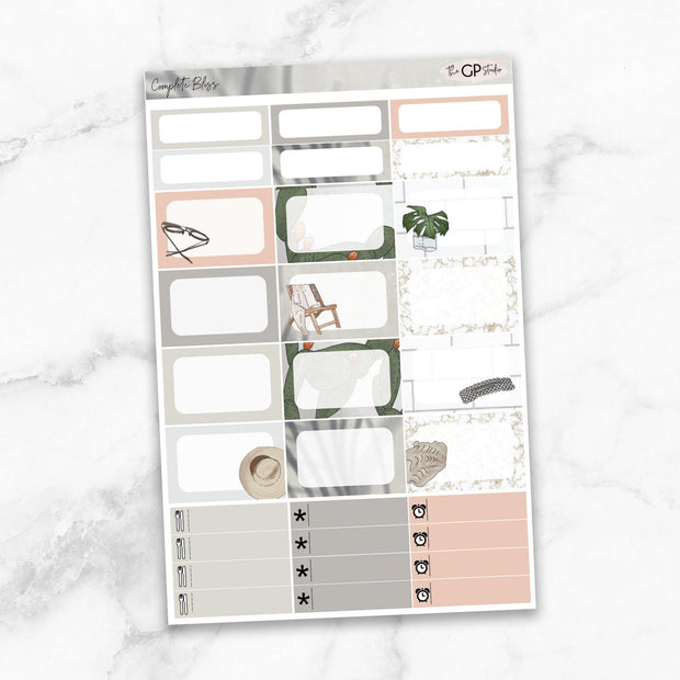 COMPLETE BLISS Half Boxes Planner Stickers-The GP Studio