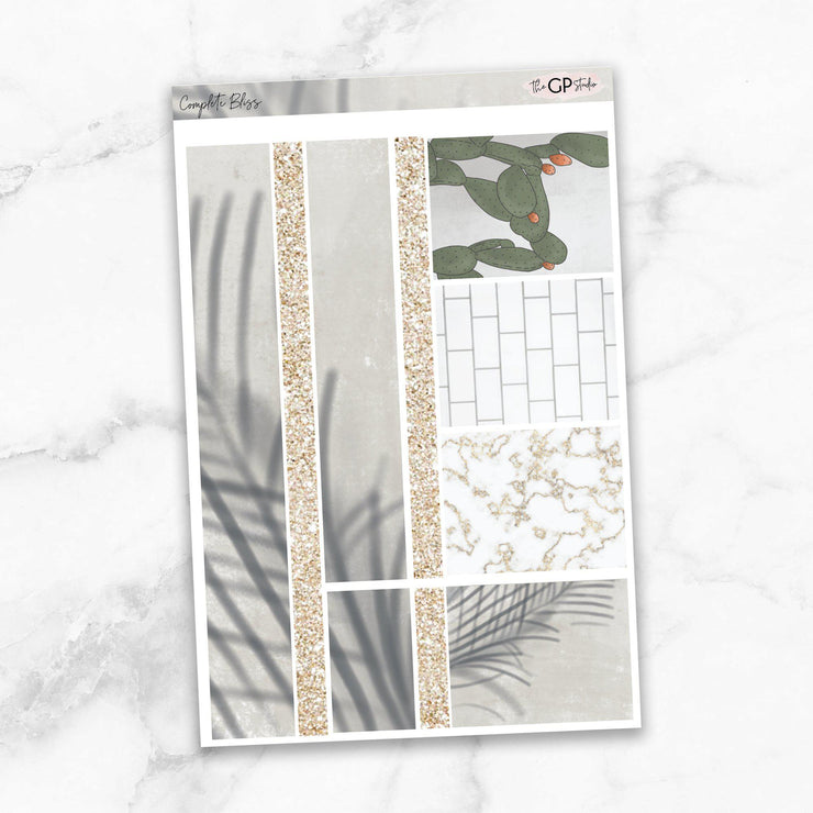 COMPLETE BLISS Washi Sheet Stickers-The GP Studio