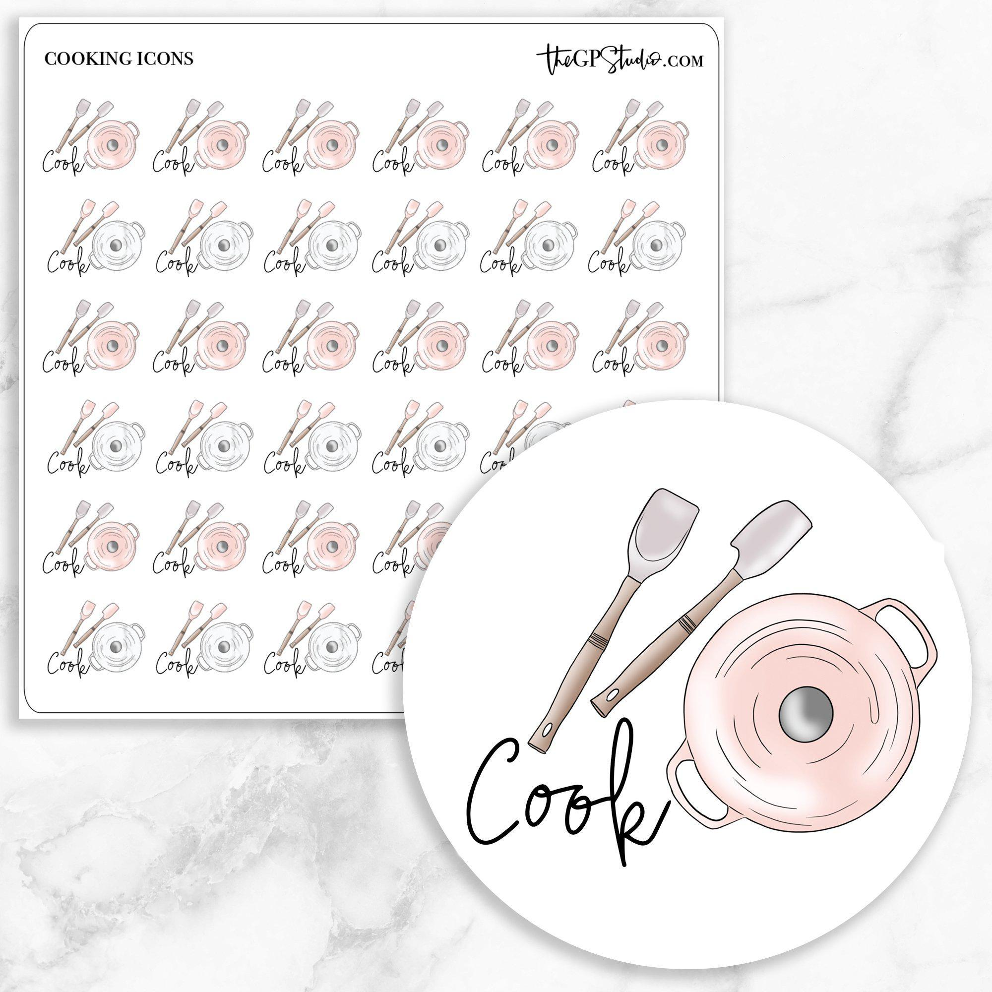 COOKING Icon Planner Stickers-The GP Studio