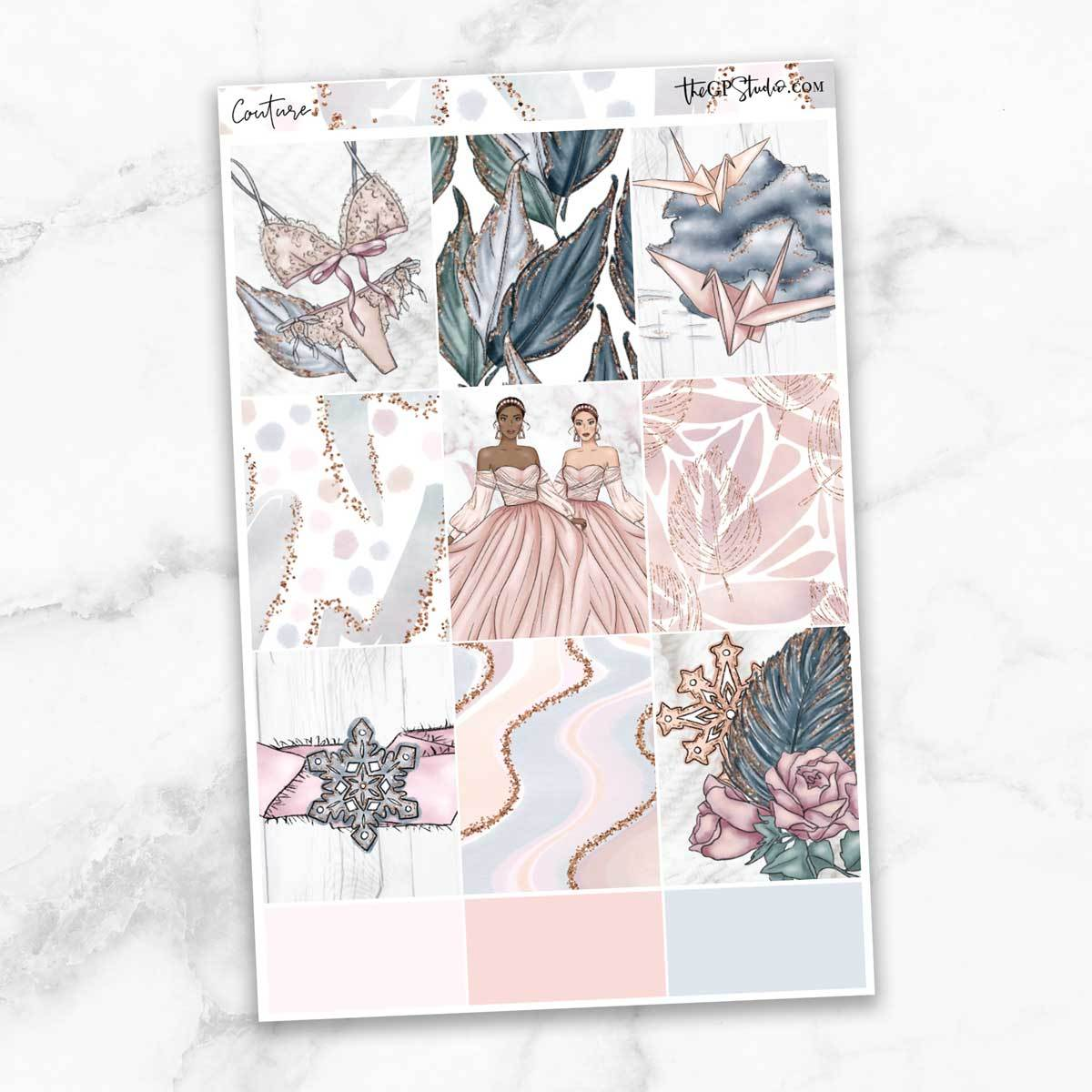 COUTURE Full Boxes Planner Stickers-The GP Studio
