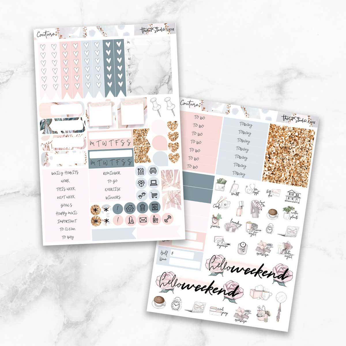 COUTURE Functional Planner Sticker Kit-The GP Studio