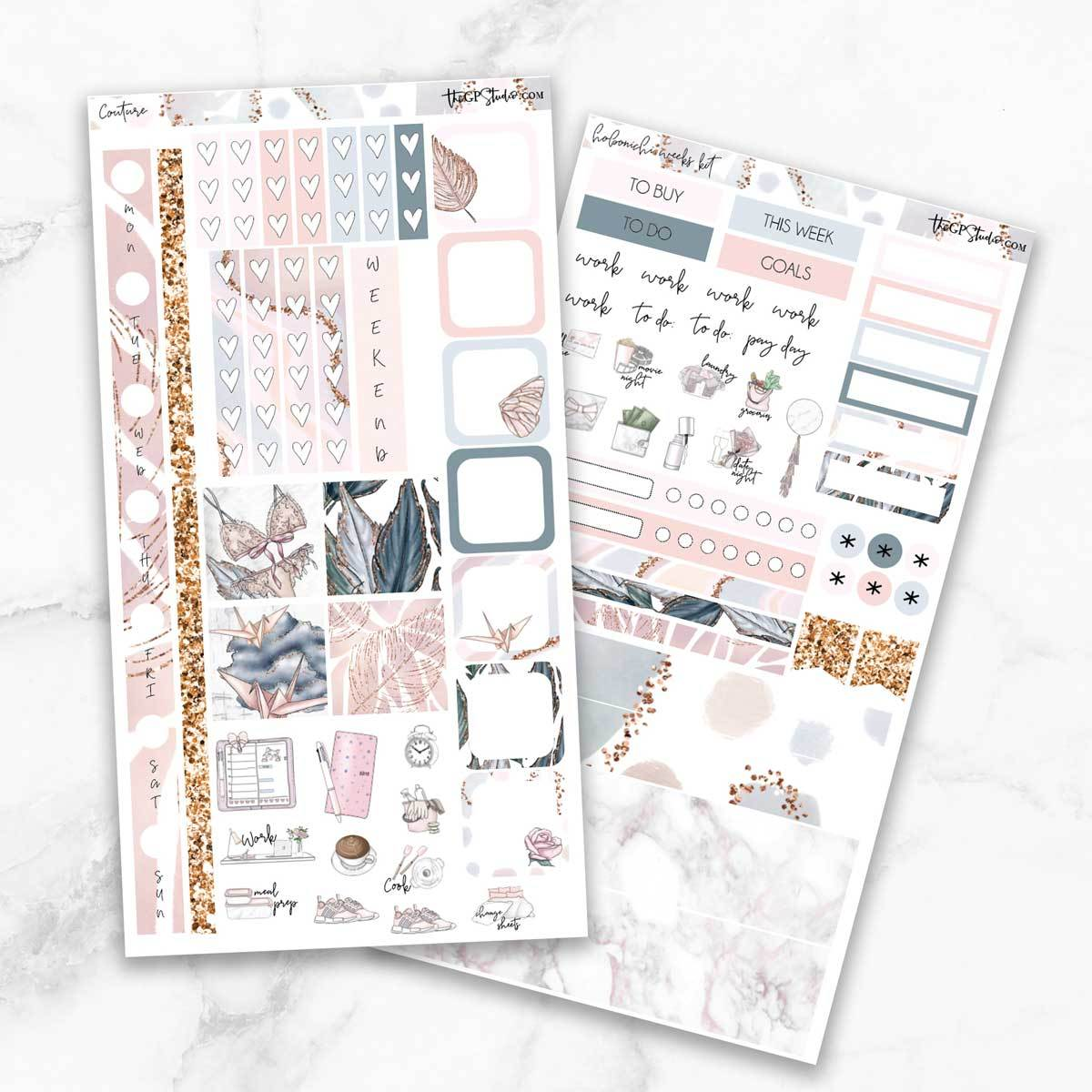 COUTURE Hobonichi Weekly Size Planner Sticker Kit-The GP Studio