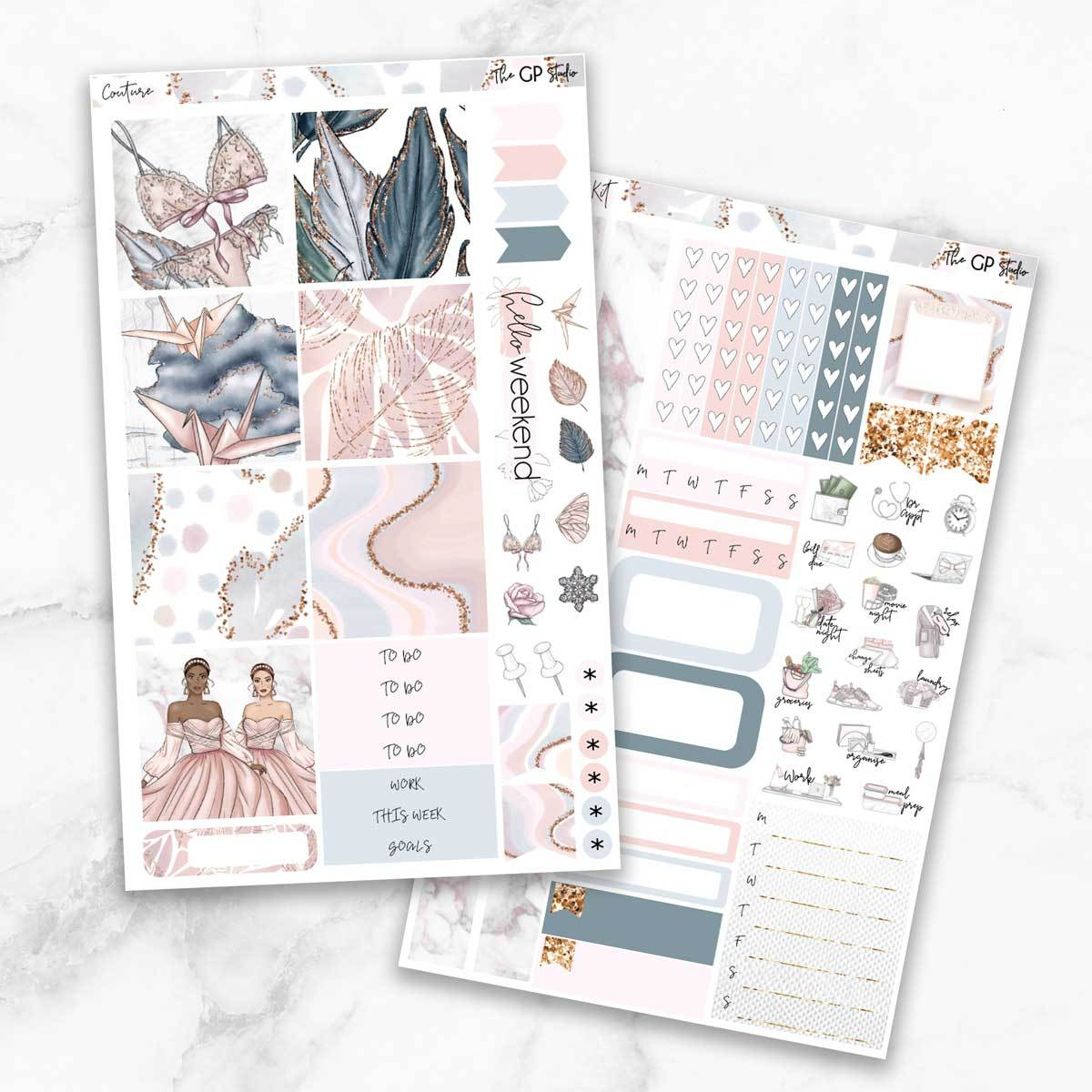 COUTURE Mini Size Planner Sticker Kit-The GP Studio