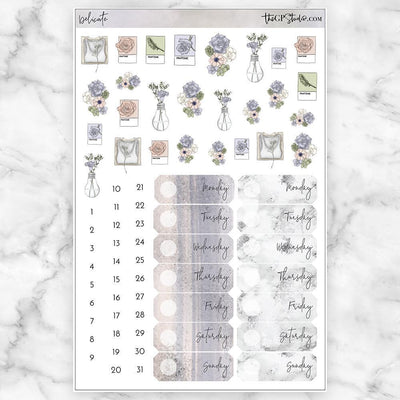 DELICATE Deco & Date Cover Stickers-The GP Studio