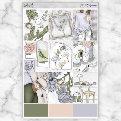 DELICATE Full Boxes Planner Stickers-The GP Studio