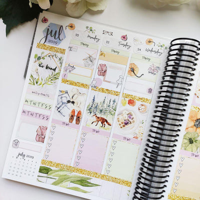 DELPHINE Full Boxes Planner Stickers-The GP Studio