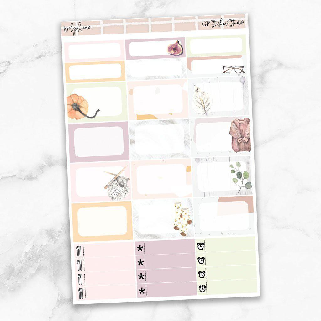 DELPHINE Half Boxes Planner Stickers-The GP Studio