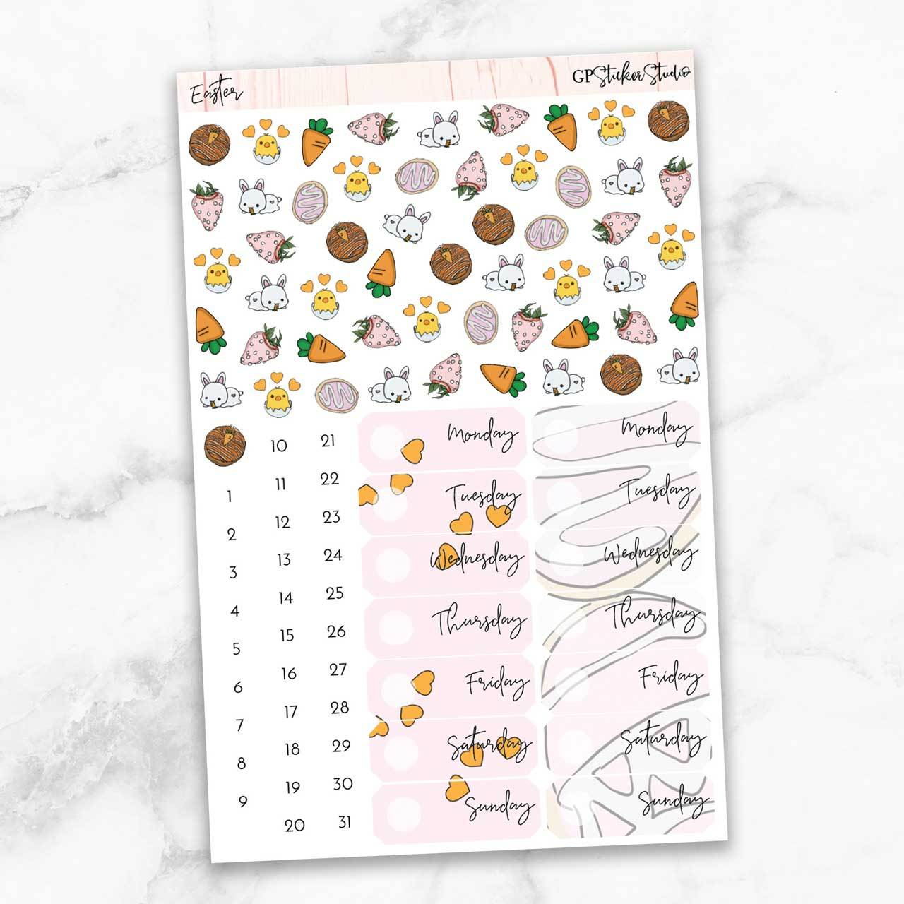 EASTER Deco & Date Cover Stickers-The GP Studio
