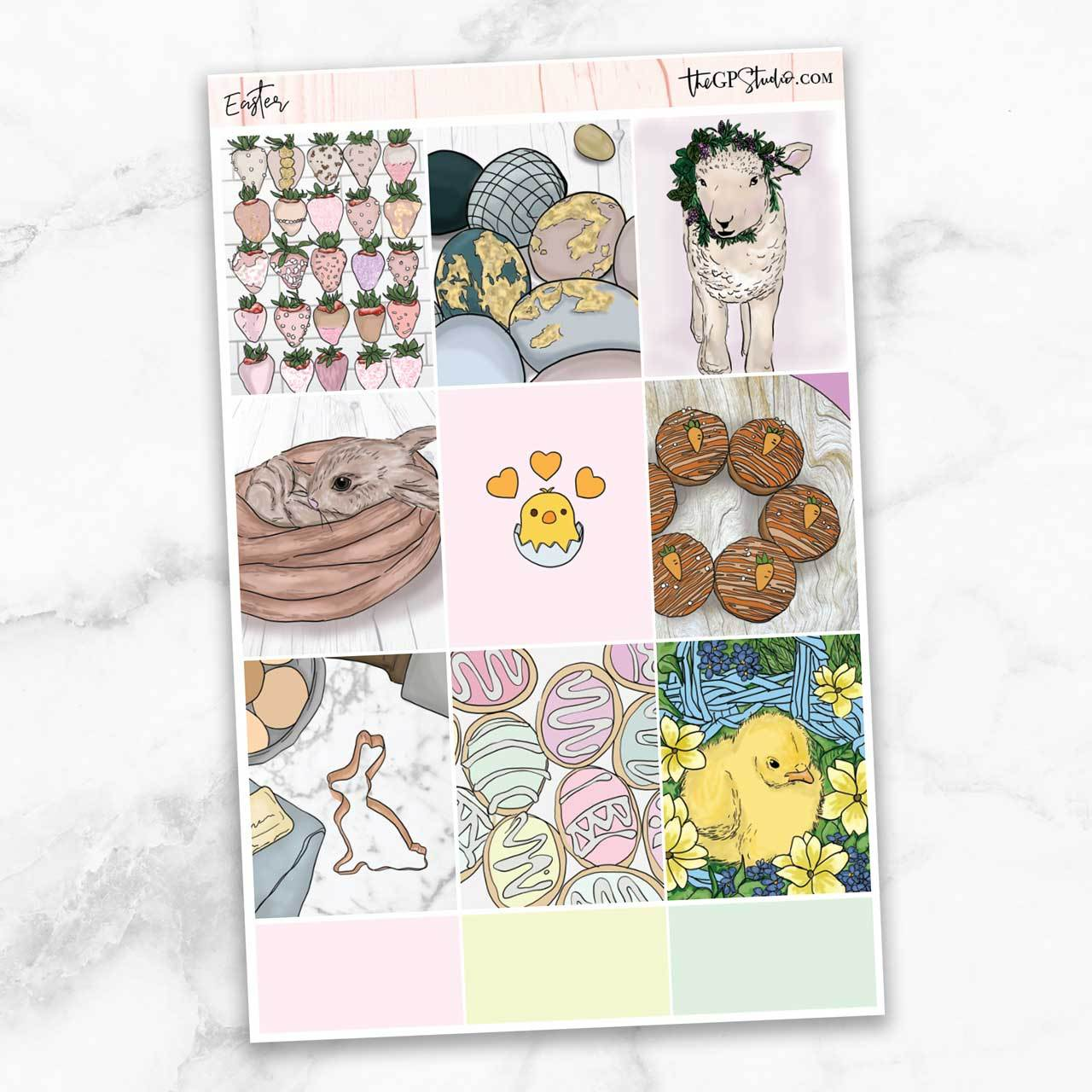 EASTER Full Boxes Planner Stickers-The GP Studio