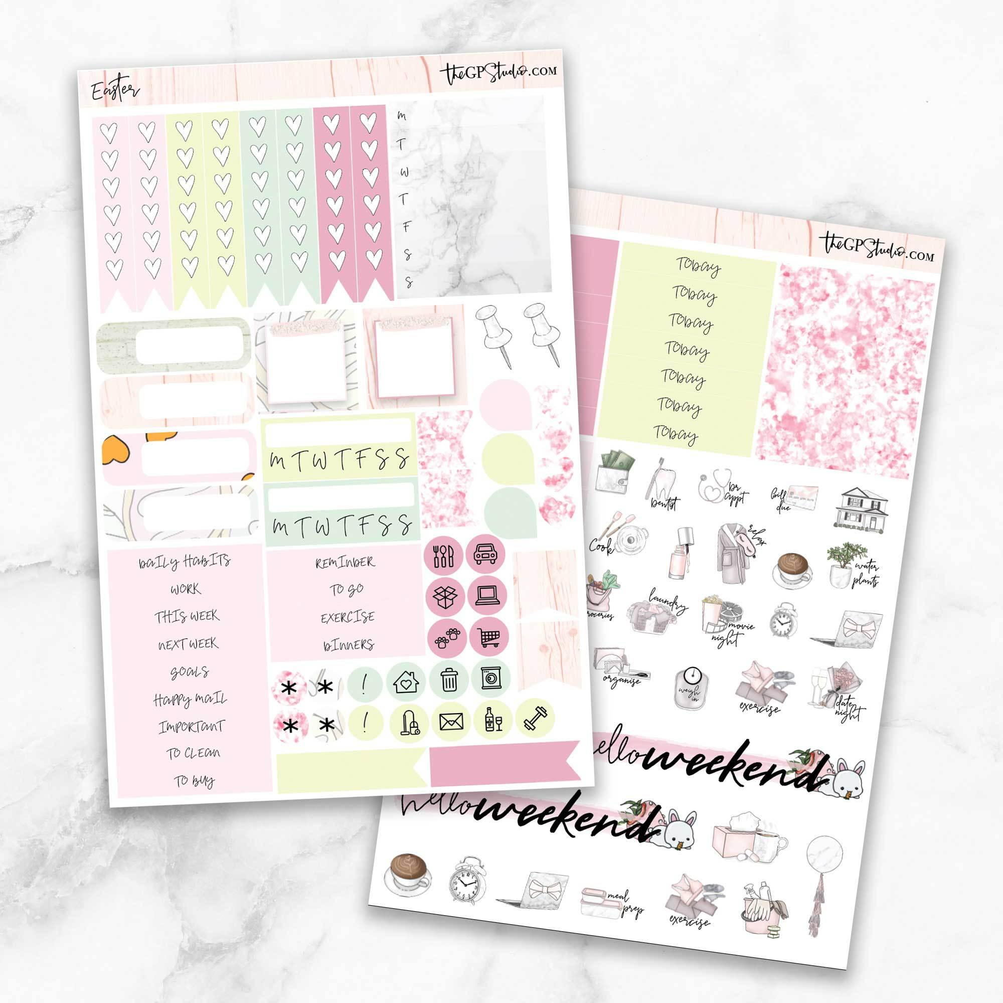 EASTER Functional Planner Sticker Kit-The GP Studio