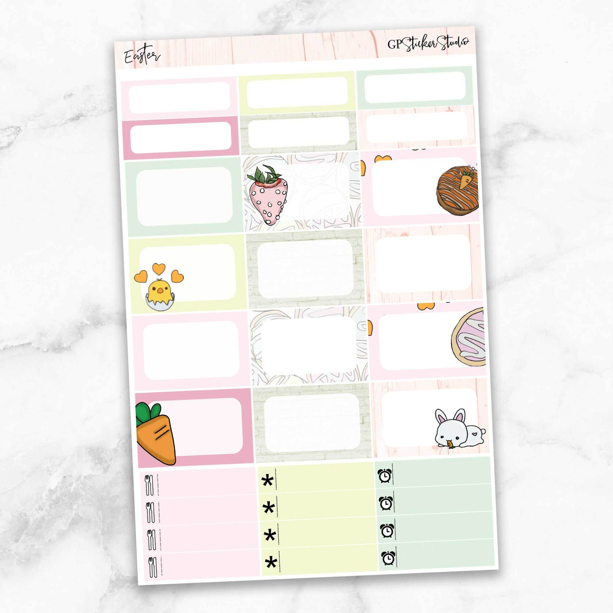 EASTER Half Boxes Planner Stickers-The GP Studio