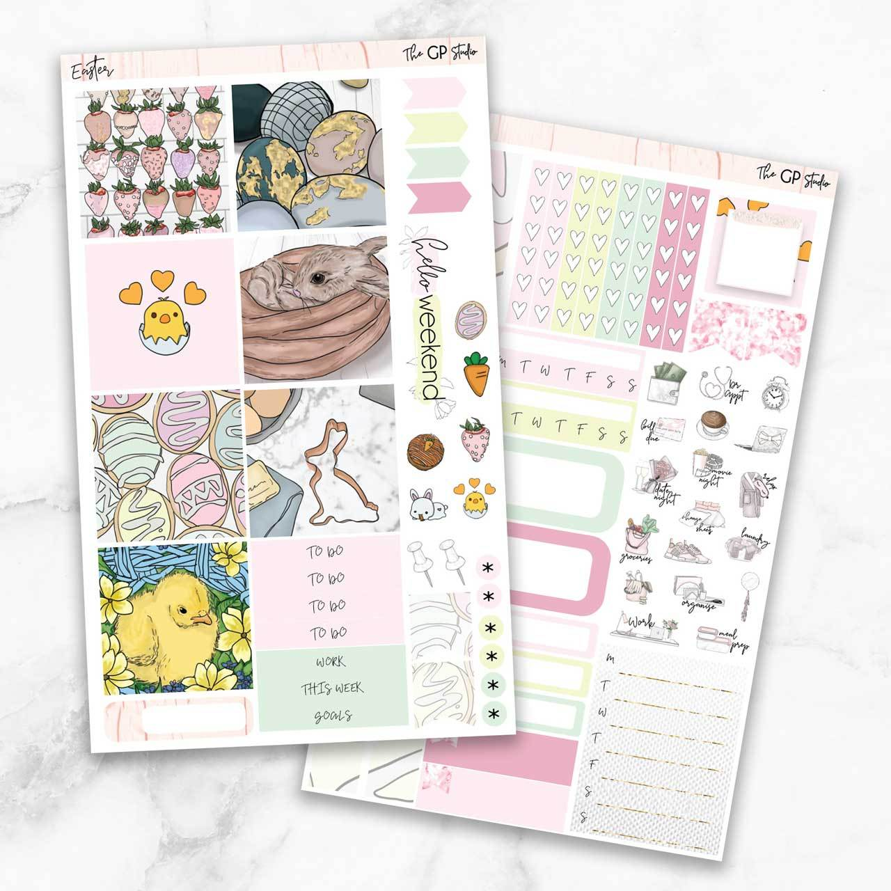 EASTER Mini Size Planner Sticker Kit-The GP Studio