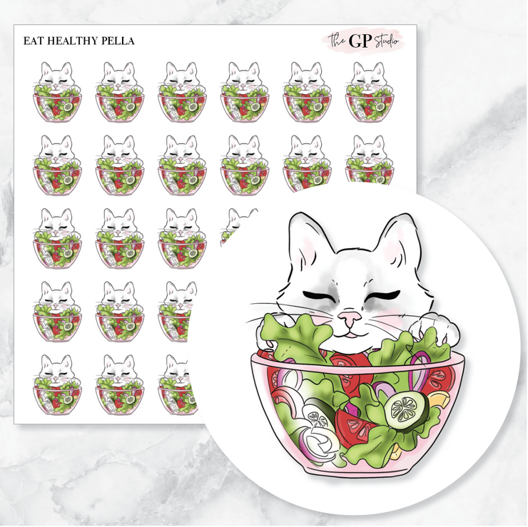 EAT HEALTHY PELLA Planner Stickers-The GP Studio