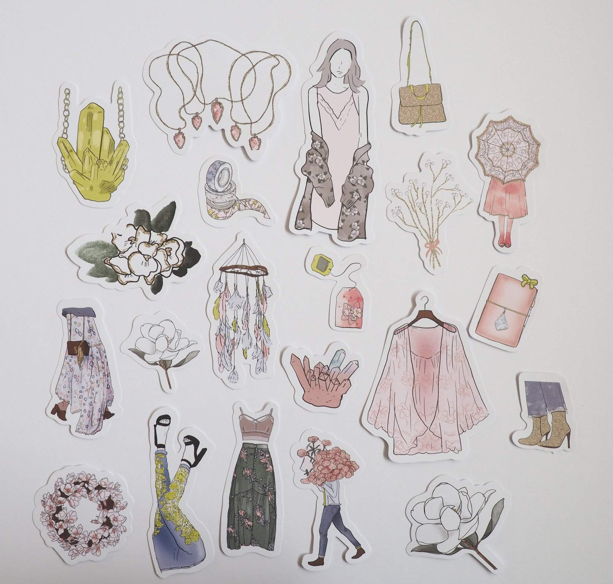 ECLECTIC SET OF DIE CUTS-The GP Studio