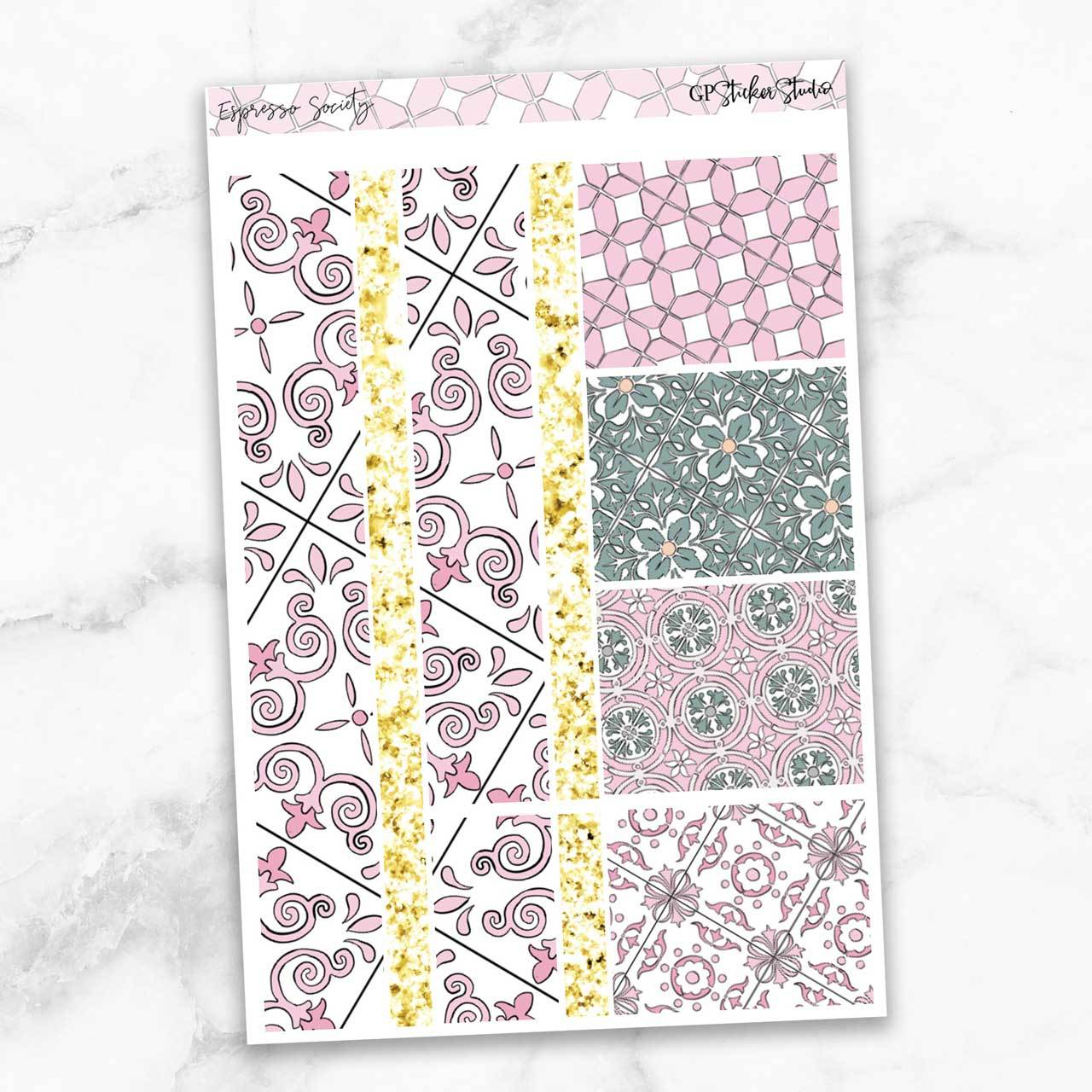 ESPRESSO SOCIETY Washi Sheet Stickers-The GP Studio