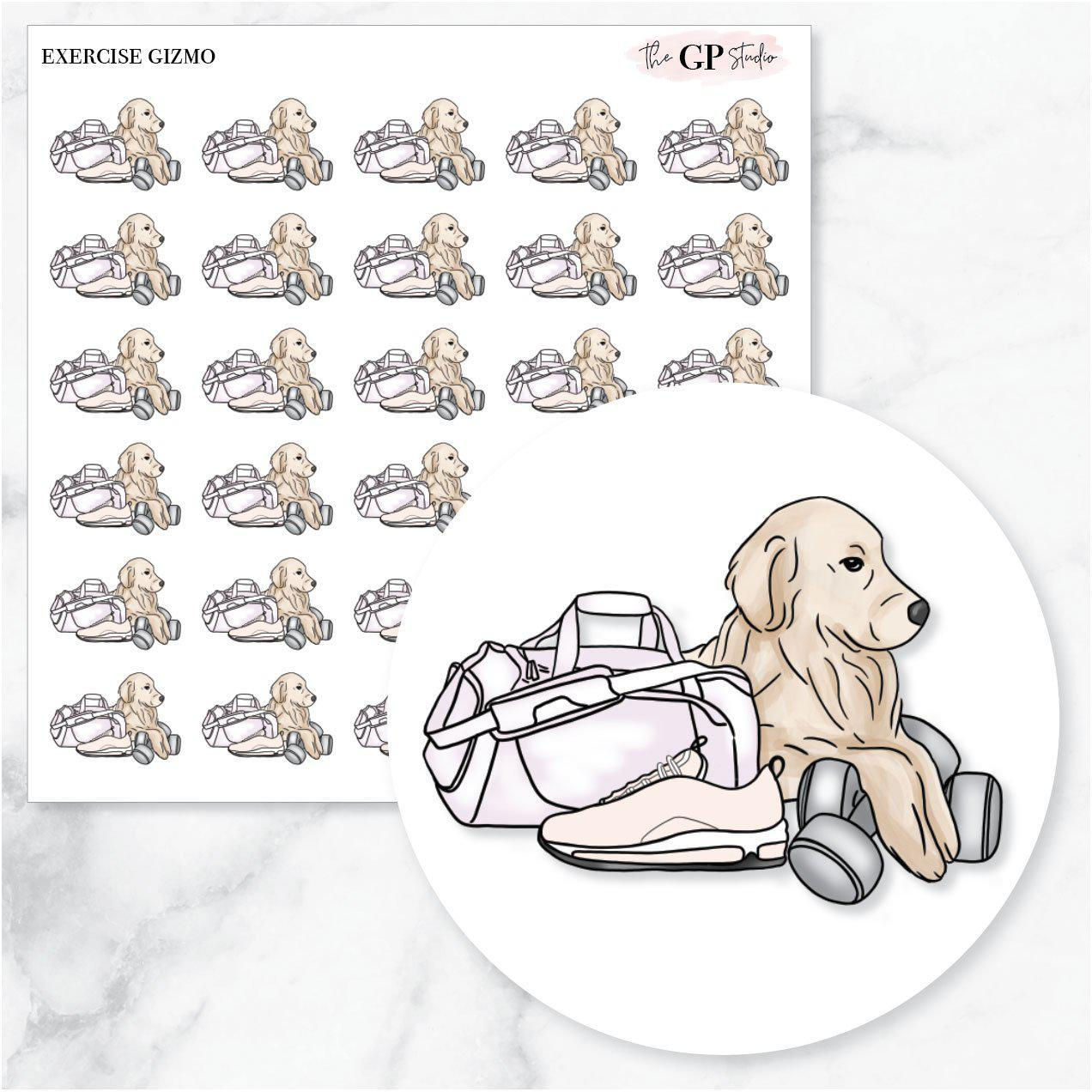 EXERCISE GIZMO Planner Stickers-The GP Studio