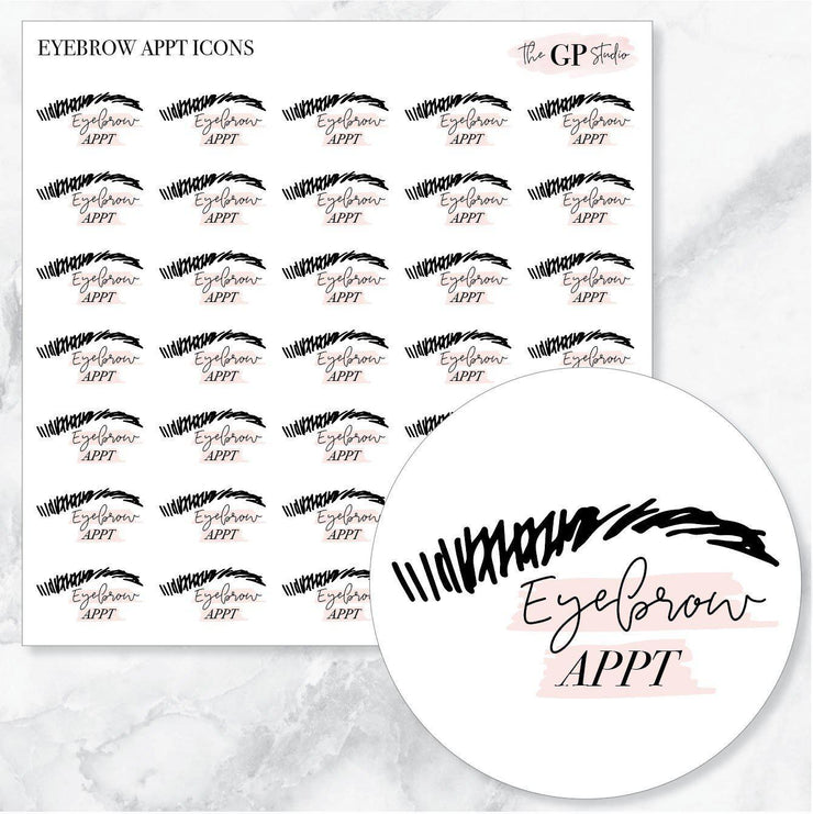 EYEBROW APPOINTMENT Icons Stickers-The GP Studio