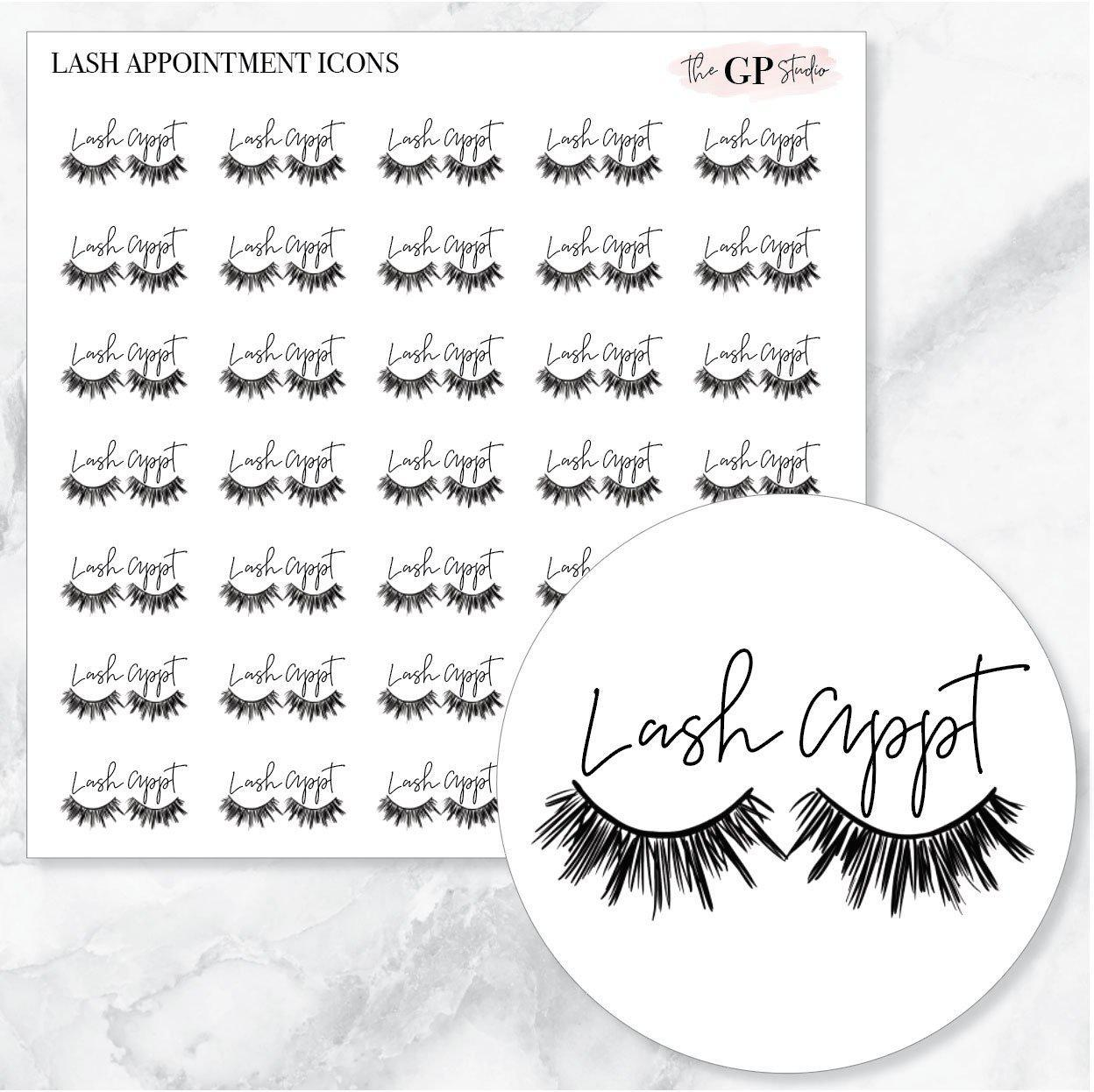 EYELASH APPOINTMENT Icons Stickers-The GP Studio