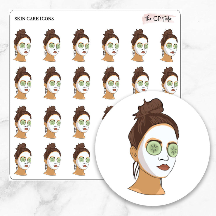 FACE MASK GP Girl Planner Stickers-The GP Studio