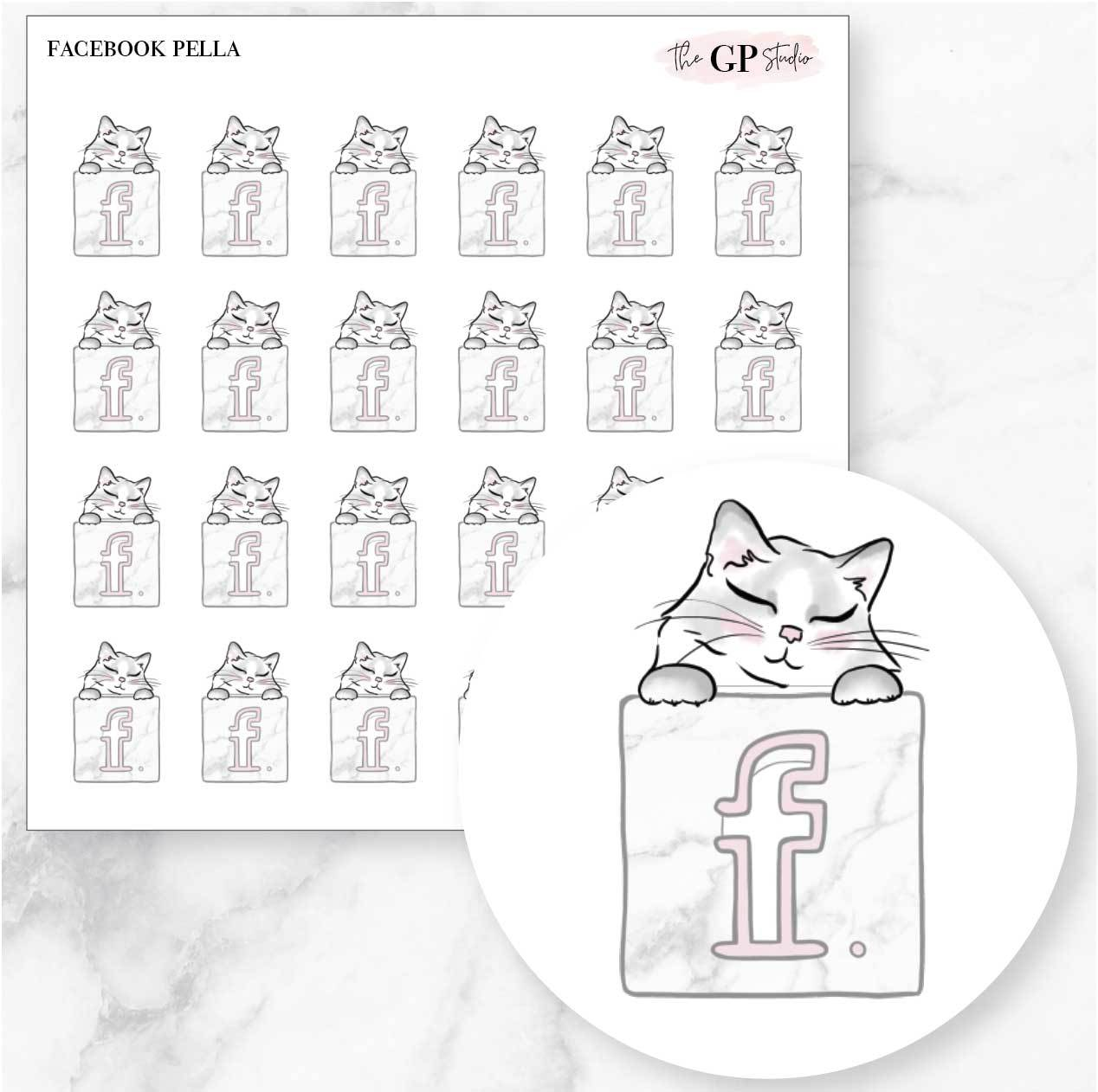 FACEBOOK PELLA Planner Stickers-The GP Studio