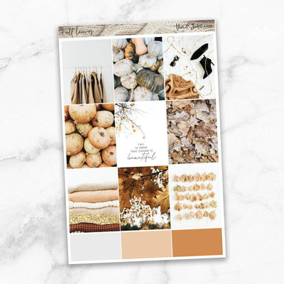 FALL LEAVES Full Boxes Planner Stickers-The GP Studio