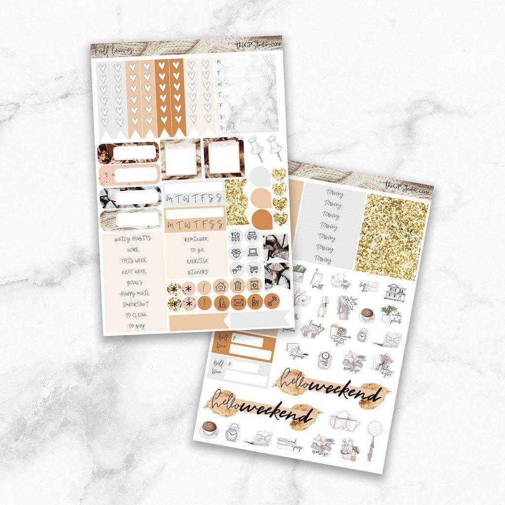 FALL LEAVES Functional Planner Sticker Kit-The GP Studio