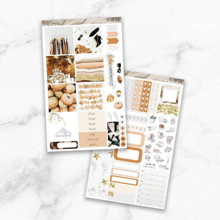 FALL LEAVES Mini Size Planner Sticker Kit-The GP Studio