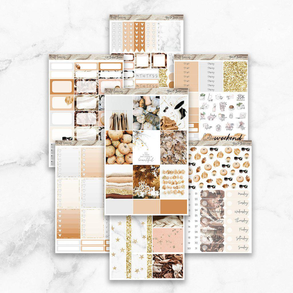 FALL LEAVES Planner Sticker Kit-The GP Studio