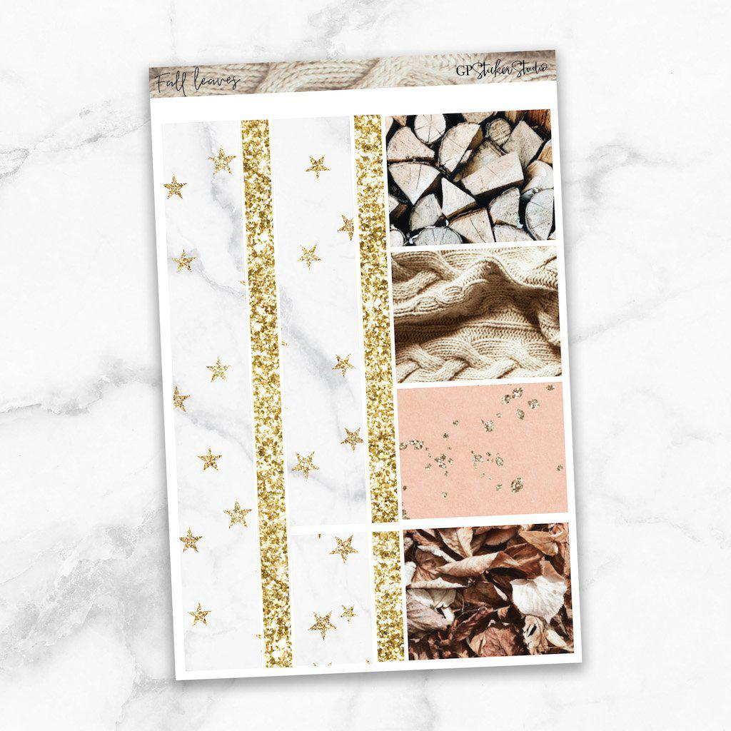 FALL LEAVES Washi Sheet Stickers-The GP Studio