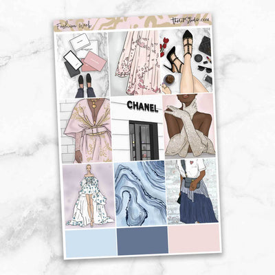 FASHION WEEK Full Boxes Planner Stickers-The GP Studio