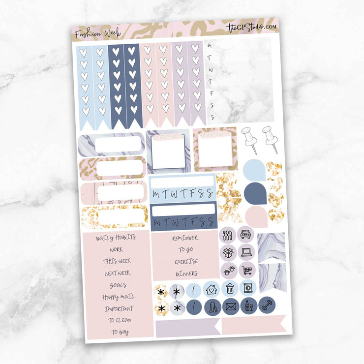 FASHION WEEK Functional Planner Sticker Kit-The GP Studio