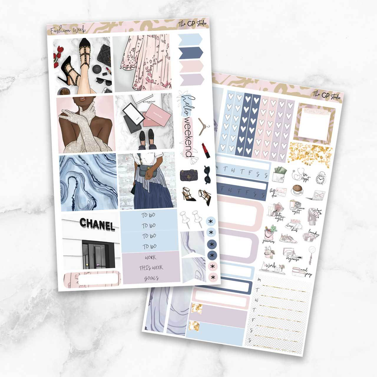 FASHION WEEK Mini Size Planner Sticker Kit-The GP Studio