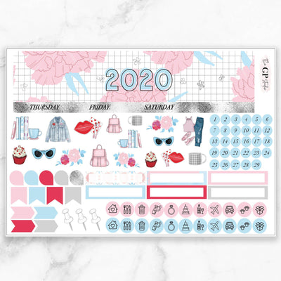 FEBRUARY 2020 Monthly View Sticker Kit Erin Condren Size-The GP Studio