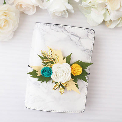 FELT FLOWER PLANNER CHARM-The GP Studio