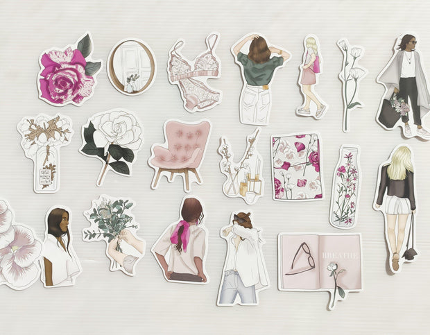 FEMME FLORAL SET OF DIE CUTS-The GP Studio