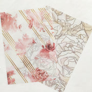 FEMME FLORAL SET OF PAPERS, ACETATE AND VELLUM-The GP Studio