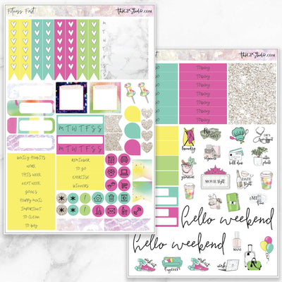 FITNESS FIRST Functional Planner Sticker Kit-The GP Studio