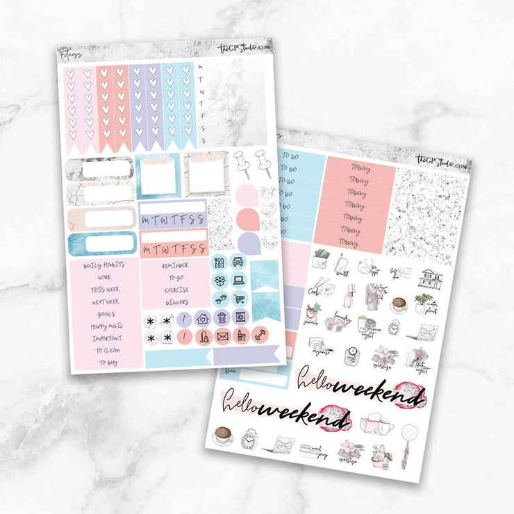FITNESS Functional Planner Sticker Kit-The GP Studio